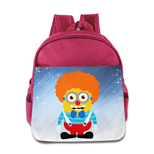 [Boomy Cute Clown Minions School Bag For 3-6 Years Old Toddler Kids Pink Size One Size] (Lightning Strike Costume)