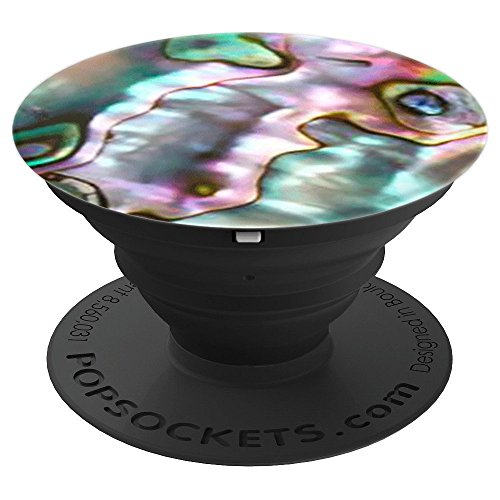 Abalone Seashell Design Teal Pink Abstract Pattern - PopSockets Grip and Stand for Phones and ()