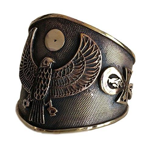 (KemetArt Egyptian Bronze Bangle (Eye &)