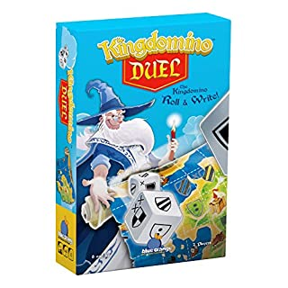 Blue Orange Games Kingdomino Duel, Roll & Write Board Game - Dice Rolling Version of The Award Winning Strategy Board Game Kingdomino - 2 Players. Recommended for Ages 8 & Up