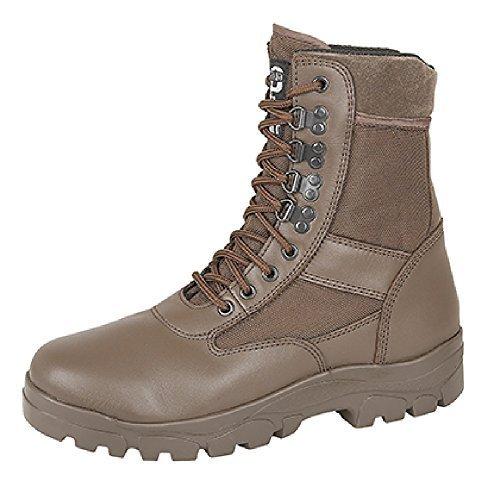 Grafters pierna alta Botas De Combate Con Acero Suela Protección Policía Seguridad Ejército Cadete Botas De Seguridad - Marron, 47