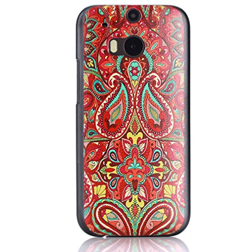 For HTC One (M8) , Leathlux Tribal Flower Hard Plastic Back Case Protective Skin Cover for HTC One (M8) / HTC One (M8) CDMA