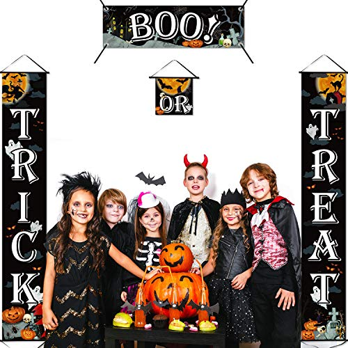 51XRRHipyDL - Chuangdi 4 Pieces Trick OR Treat Banner Halloween