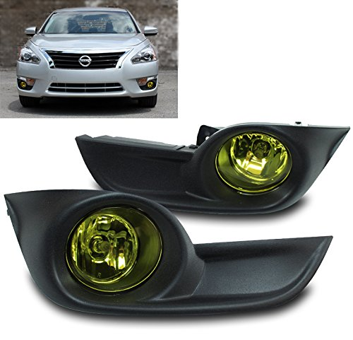 (ZMAUTOPARTS Bumper Driving Yellow Fog Lights Lamps W/Cover+Switch For 15 Altima Sedan 4Dr)