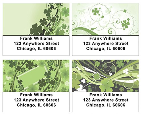 Stylistic Shamrocks Address Labels