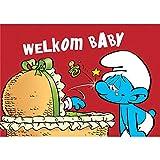 Puppy Postcard The Smurfs, Welkom Baby (15x10cm)