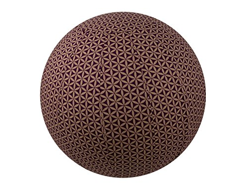 65cm Exercise Ball Cover, yoga ball cover, balance ball cover, birthing ball cover, 100% cotton - Plum Flower of Life by Global Groove Life
