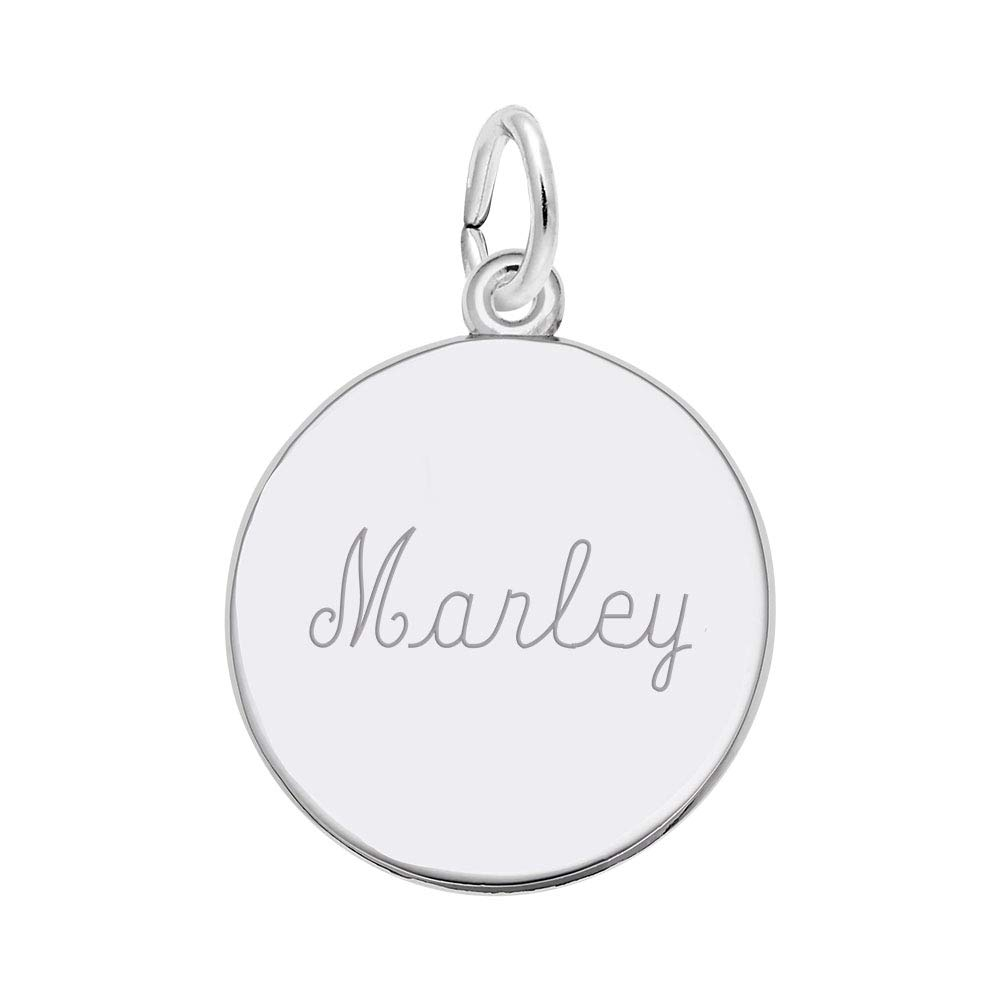Large Paw Print 1 or 2 Lines Custom Engraving Rembrandt Charms