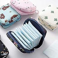 CHRONEX Waterproof Multipurpose Large Capacity Sanitary Napkin pad Pouch Organizer Storage Bag (Random Color)