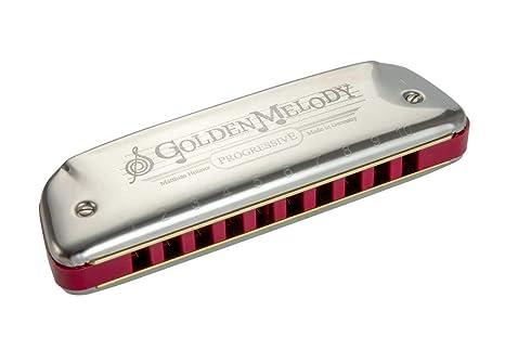 Hohner Golden Melody 542/20 CX - Armonica, cuerpo de plástico rojo