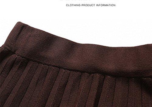 Femme Uni Taille Unique Noir zoulouyou Plisse Noir Jupe Noir wfB4q4
