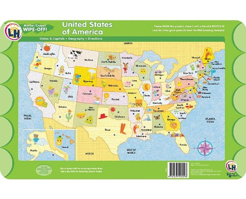 (United States of America Wipe Off Activity Mat)