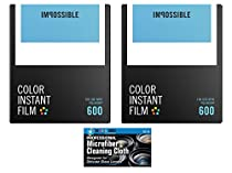 Impossible PRD4514 Instant Color Film for Polaroid 600 Cameras - 2 Pack