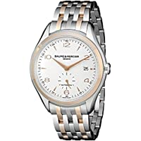 Baume and Mercier Clifton Silver Dial Two-tone Men's Watch (MOA10140)