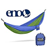 ENO - Eagles Nest Outfitters DoubleNest Hammock, Portable Hammock for Two, Royal/Lime