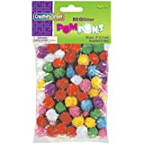 "Creativity Street Glitter Poms 1/2"" 80-Piece Assorted"