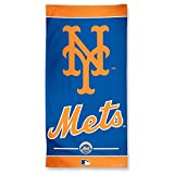 WinCraft MLB New York Mets A1878315 Fiber Beach Towel, 9 lb/30'' x 60''
