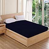 AVI Waterproof Dustproof Terry Cotton Mattress Protector Double Bed - Navy Blue (72 X 72 inches)