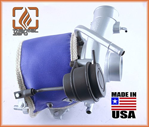 BLUE replacement for turbo heat shield Compatible with most OEM Subaru VF series turbochargers TZ1155-U MADE IN USA Thermal Zero 2500/°F Wrap around Turbo Blanket