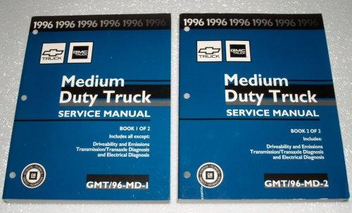 1996 GMC Medium Truck Service Manuals (Topkick, Kodiak, P6 & B7 Bus Chassis, 2 Volume Set)