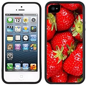Strawberry Strawberries Handmade iPhone 5 5S Black Bumper Plastic Case