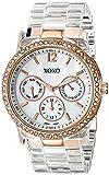 XOXO Women's XO5528 Clear Bracelet with Rhinestones on Rose Gold Case Watch