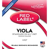 Super-Sensitive 4107 Red Label Full Core Standard Viola Strings, Set of 4