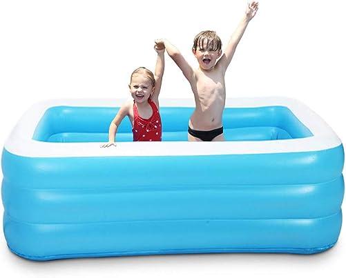 WAQIA Family Inflatable Swimming Kiddie Pool Inflatable Lounge Pool