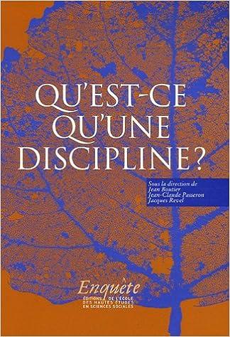 Téléchargement Qu'est-ce qu'une discipline ? pdf, epub