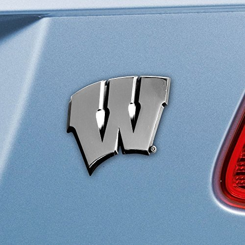 Wisconsin Badgers Heavy Metal NCAA Auto Emblem - Fan (Wisconsin Badgers Mat)