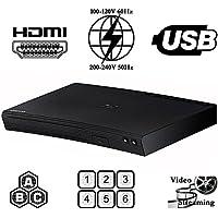 2015 SAMSUNG BD-J5100 (Curved Design) Multi System Region Free Blu Ray Disc DVD Player - PAL/NTSC - USB - 100-240V 50/60Hz for World…