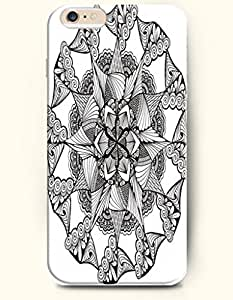 OOFIT Hard Phone Case for Apple iPhone 6 ( 4.7 inches) - Black And White Flower - Black And White Drawing Pattern