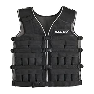 Valeo 40 Pound Weighted Vest With Removable 1 Pound Packs For Adjustments From 2 to 40 Pounds, VA4471BK