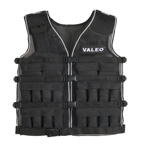 Valeo WV40 40-Pound Weighted Running And Workout Vest With Removable 1 Pound Packs For Adjustments From 1-40 Pounds And Four Adjustable Front Clip Belts by Valeo