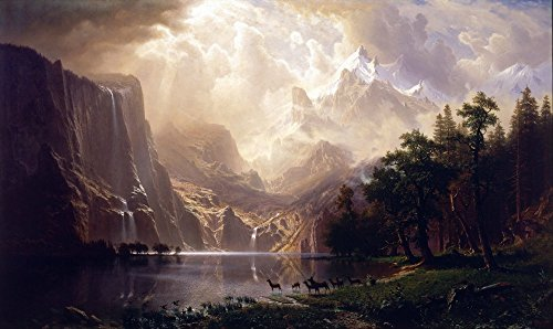 The Museum Outlet - Bierstadt - Among the Sierra Nevada - Poster Print Online Buy (40 X 50 - Shopping Nevada Outlets
