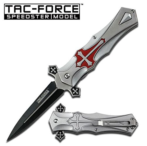 Tac-force RED Cross Folding Blade Pocket Knife