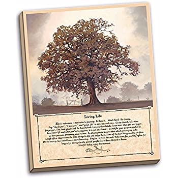 Living Life Stretched Canvas Wall Hanging By Bonnie Mohr (16 X 20) Tree Art