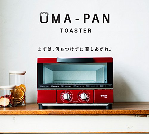 タイガー オーブン トースター レッド やきたて KAE-G13N-R UMA-PAN Tiger