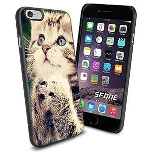 Cute Cat Pray Apple Smartphone iPhone 6 4.7 inch Case Cover Collector TPU Soft Black Hard Cases
