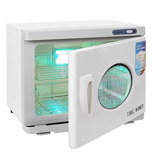 WealthyPlaza UV Sterilizer 2in1 Towel Warmer Hot Cabinet 26L Tool Gym Spa Salon Facial Manicure Beauty