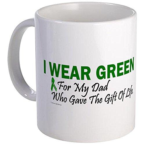 CafePress Green For Dad Organ Donor Donation Mug Unique Coffee Mug, Coffee Cup