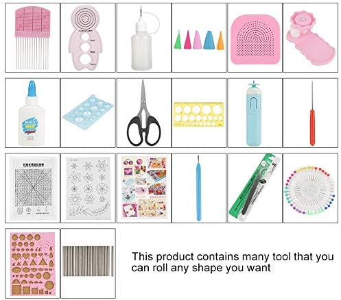 Gancon 24PCS DIYクイリングペーパースロットツールセットアートクラフトデコレーション(色ランダム)