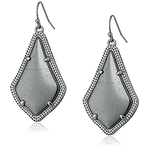 sterling lollipop silver diamond earrings in with hematite diamonds teardrop