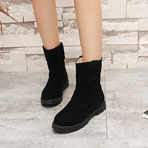 Latasa Womens Flat Boots Flat Comfort Neri