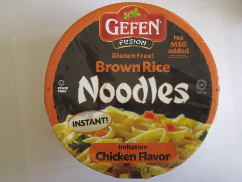 Gefen Gluten Free Brown Rice Noodle Bowl, Chicken Flavor, 2.25 Oz (12 Pack) by Gefen