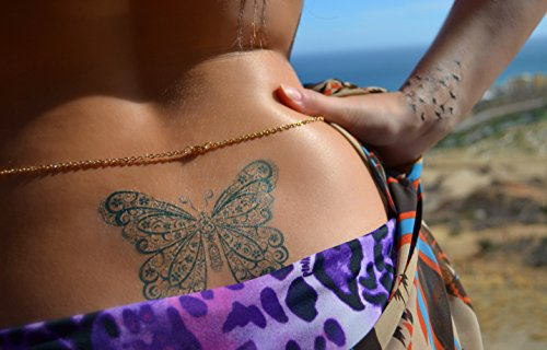 Temporary Tattoo Grab Bag - 50+ Heart, Henna, Nature Tattoos - Waterproof Safe Removable Made in USA