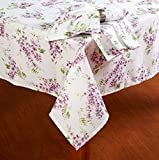 Best Laura Ashley Dining Tables - Laura Ashley Keighley Lavender Floral Print Fabric Tablecloth Review