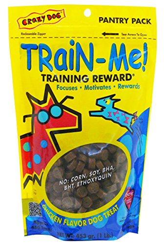 Biscuits Dog Bacon Flavored - Crazy Dog Train-Me! Training Reward Dog Treats 16 Oz.,Chicken Regular