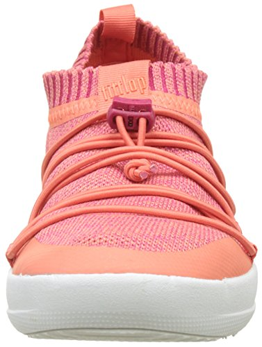 Ghillie Collo Alto Fitflop Sneakers Sneaker Fuchsia Slip Coral a Donna Uberknit on Multicolour wqq0ptf