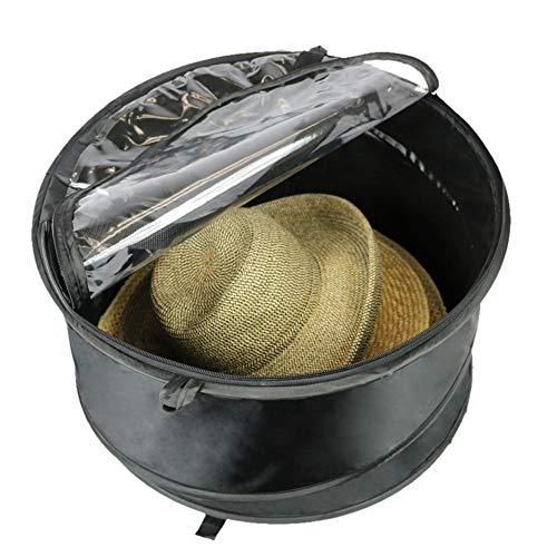 The Elixir Deco Premium Hat Pop-Up Bag [Dust Cover Organizer] Hat Stroage Travel Bag Round Hat Box -